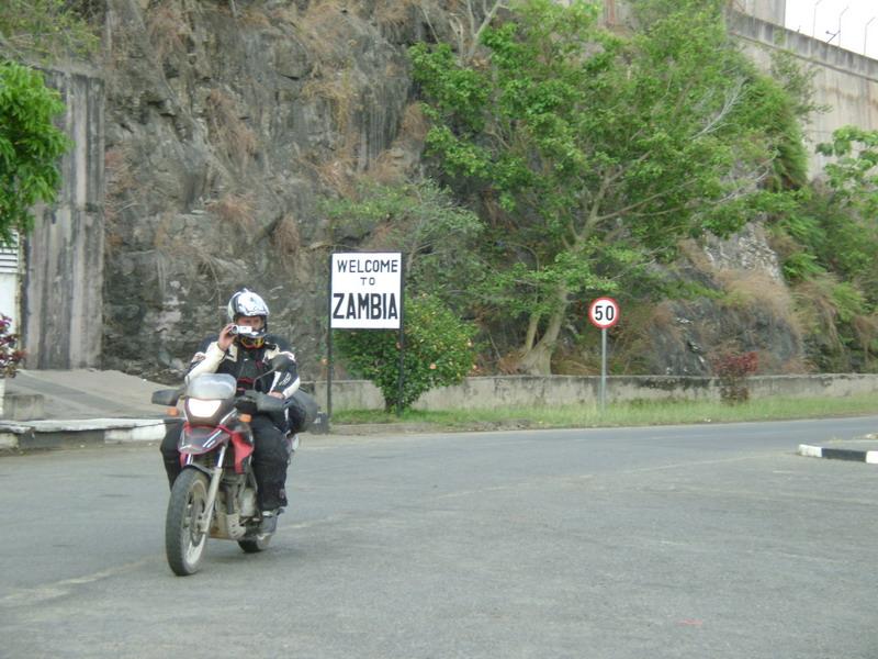 На мотоцикле в Замбию