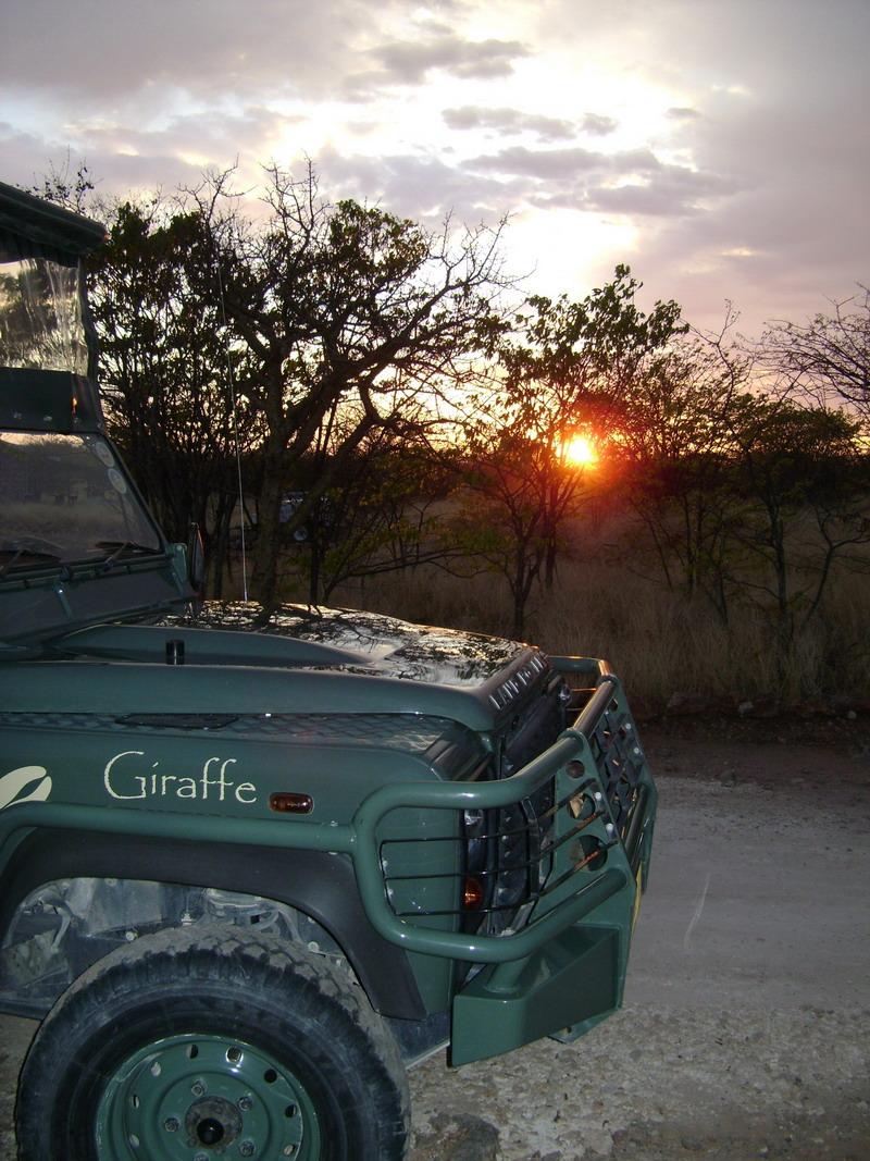 Красивый Африканский закат